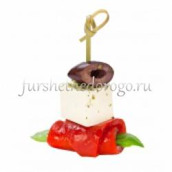 Канапе с сыром Фета и печеным болгарским перцем