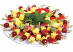 Канапе сет с сыром и фруктами - 20 шт