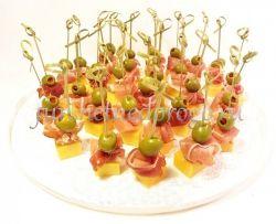 Хамон с сыром чеддер и оливкой, 20 шт