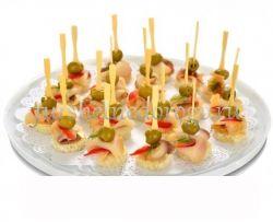 Масляная рыба с оливками и перцем, 20 шт