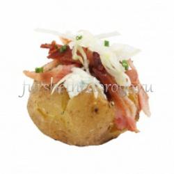 Запеченный картофель с жареным беконом