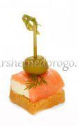 Семга с сыром на тосте