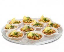 Тарталетки с салатом из лосося и авокадо, 10 шт