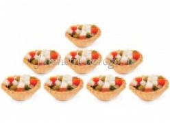 Мини-тарталетки с салатом по-гречески, 20 шт