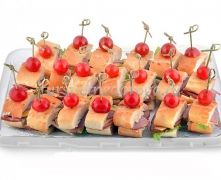 Французский багет с ветчиной и сыром, 20 шт
