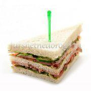 Снек сэндвич с ветчиной и овощами